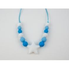 Collar Mordedor y de Lactancia Basic Azul