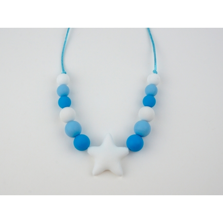 Teething Necklace of Lactation Basic Blue