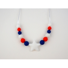 Teething Necklace of Lactation Basic Star Marine