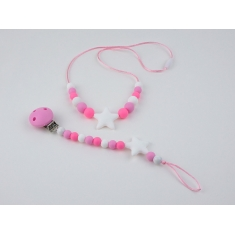 Pack Lactantion Basic Pink (Necklace + Silicone Chain)