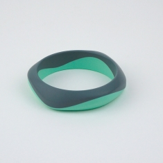 Teething Bracelet and Lactation of Silicone Green Nácar