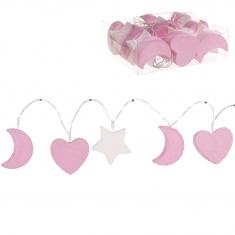 Guirnalda de Leds formas tonos Rosa