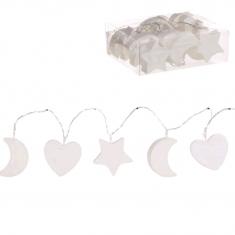Guirnalda de Leds formas tonos Blanco