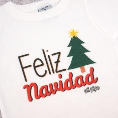 Babidu Body Navideño Feliz Navidad con árbol