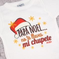 Babidu Body Navideño Papá Noel no te lleves mi chupete