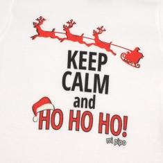 Babidu Body Navideño Keep Calm and Ho, Ho, Ho!