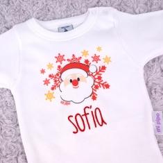 Babidu Body Navideño Personalizado Navidad Papá Noel