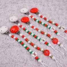 Pack 5 Cadenitas de Madera Navidad no Personalizadas + 1 de Regalo