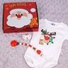 Cajita Navidad Divertida Reno Rudolf con Body, Chupete y Cadenita en catalán Bon Nadal