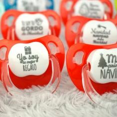 Pack 10 Chupetes Baby Especial Navidad + 2 de Regalo