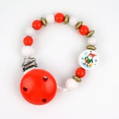 Cadenita de Madera Navidad Papá Noel Roja