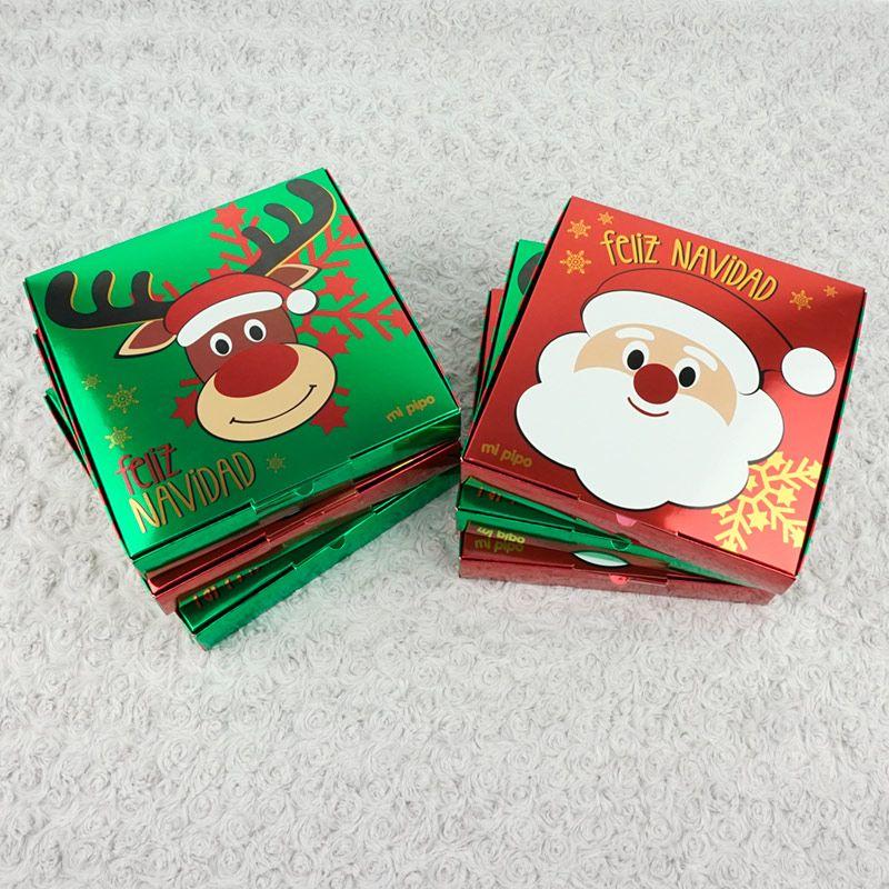 6 cajitas para empaquetado de regalo feliz navidad pap - Empaquetado de regalos ...