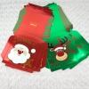 6 Cajitas para empaquetado de regalo Feliz Navidad Papá Noel y Reno