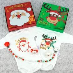 5+1 Cajita Especial Navidad Papá Noel y Reno Rudolf te desean Feliz Navidad