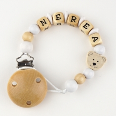 Wood chain Natural Teddy Bears Personalized