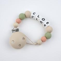 Silicone Chain Personalized Beige