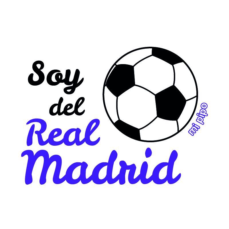 a5e24029e Camiseta Divertida Bebé Soy del Real Madrid - mi pipo