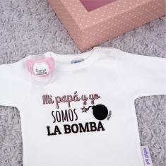 Cajita Divertida Mi Papá y Yo somos la Bomba Rosa