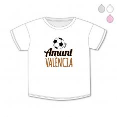 Camiseta Divertida Bebé Amunt València