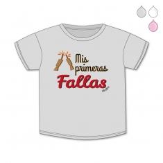 Camiseta Divertida Bebé Mis primeras Fallas