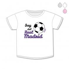 Camiseta Divertida Bebé Soy del Real Madrid