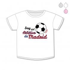 Camiseta Divertida Bebé Soy del Atlético de Madrid