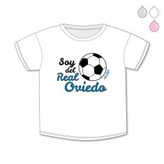 Camiseta Divertida Bebé Soy del Real Oviedo