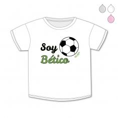 Camiseta Divertida Bebé Soy Bético