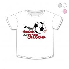 Camiseta Divertida Bebé Soy del Athletic de Bilbao