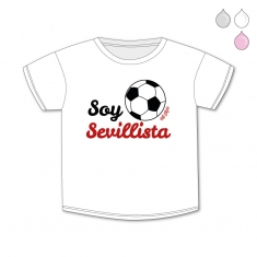 Camiseta Divertida Bebé Soy Sevillista
