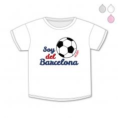 Camiseta Divertida Bebé Soy del Barcelona