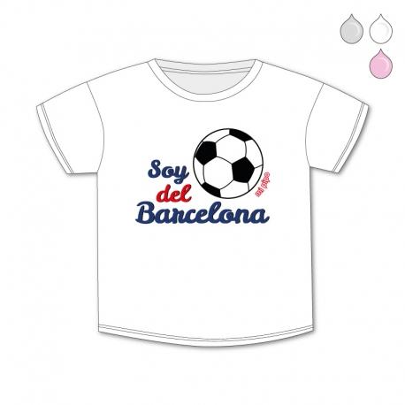 4b054031c Camiseta Divertida Bebé Soy del Barcelona - mi pipo