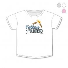 Camiseta Divertida Bebé Fallero y Follonero