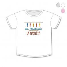 Camiseta Divertida Bebé Sr Pirotècnic, pot començar la mascletà