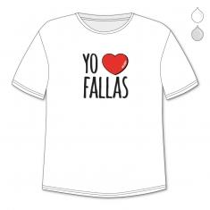 Camiseta Divertida Papá Yo corazón Fallas