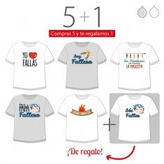 PROMO Camiseta Divertida Papá especial Fallas, compra 5 y te regalamos 1