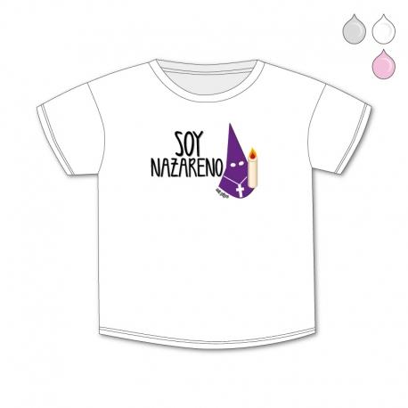 Camiseta Divertida Bebé Soy Nazareno capirote