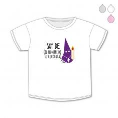 Camiseta Personalizada Bebé Soy de (el nombre de tu Cofradía) Nazareno