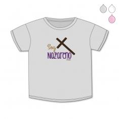 Camiseta Divertida Bebé Soy Nazareno cruz
