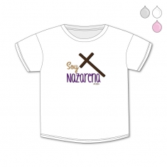Camiseta Divertida Bebé Soy Nazarena cruz
