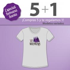 PROMO Camiseta Divertida Niña especial Semana Santa, compra 5 y te regalamos 1