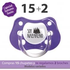 Pack 15 Chupetes Clásicos Divertidos Semana Santa + 2 de Regalo