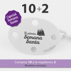 Pack 10 Broches Divertidos Semana Santa + 2 de REGALO