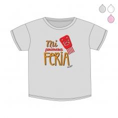 Camiseta Divertida Bebé Mi primera Feria peineta