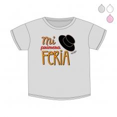 Camiseta Divertida Bebé Mi primera Feria sombrero