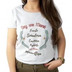 Camiseta Personalizada Soy una Mamá con adjetivos