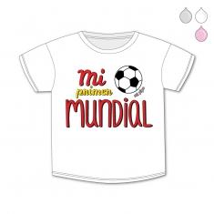 Camiseta Divertida Bebé Mi primer Mundial