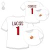 Pack 2 Camisetas Divertidas Nombre + Número España