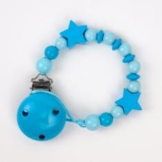 Cadenita de madera estrellas tonos azul no personalizada
