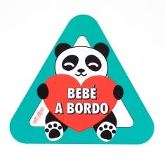 Adhesivo para coche Bebé a Bordo Panda